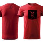 PD tričká pánske červené 01 dancer