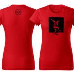 PD tričká dámske červené dancer